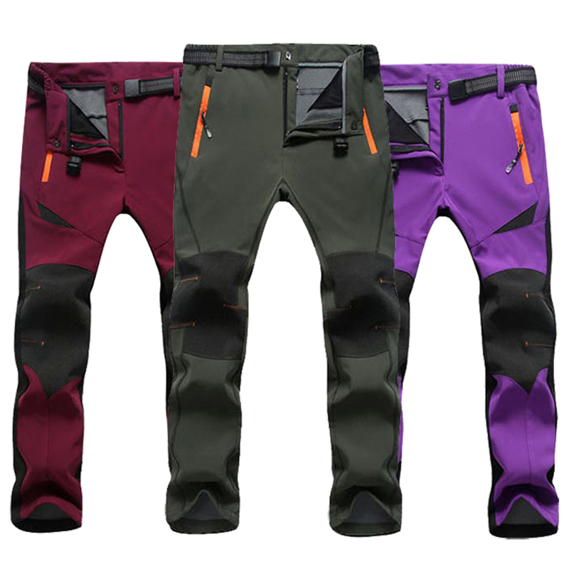 2018 Skiing Pants Men Women Windproof Thermal Waterproof Fishi Snowboarding Pants Outdoor Winter Fishing Hiking Sofshell Trouser