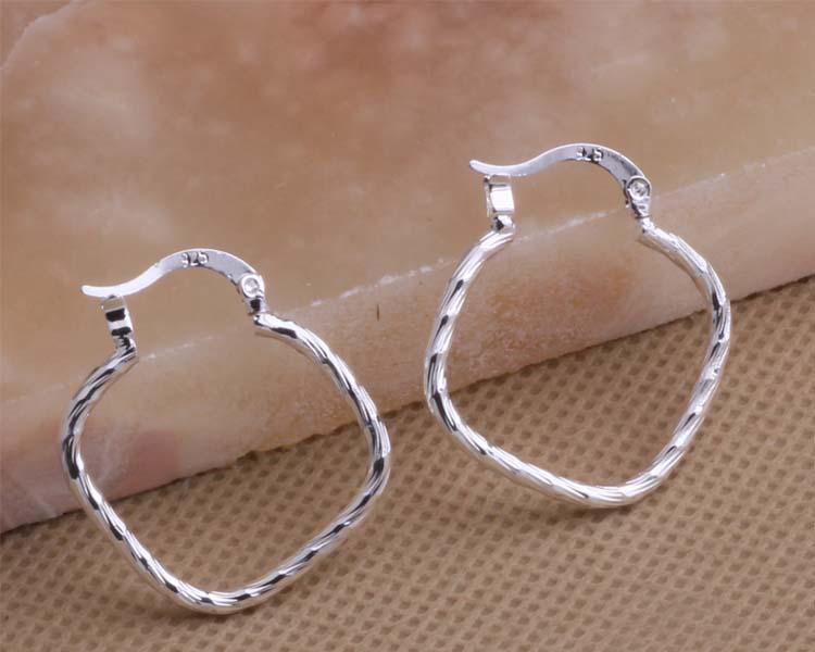 Hoop Earrings Irregular Rhombus