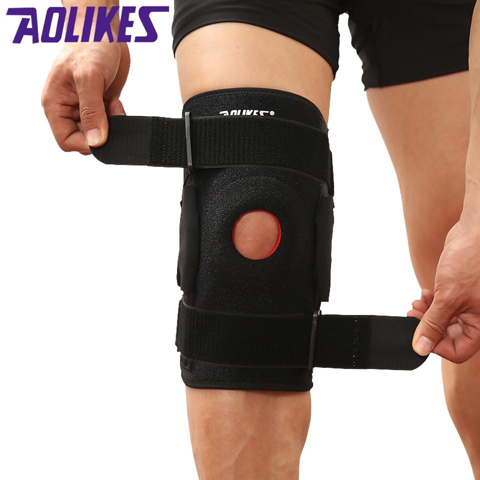 AOLIKES 1 stücke Einstellbare Knie Patella Unterstützung Klammer Hülse Wrap Kappe Stabilisator Sport Knie pflege Tragbare Knie Protektoren