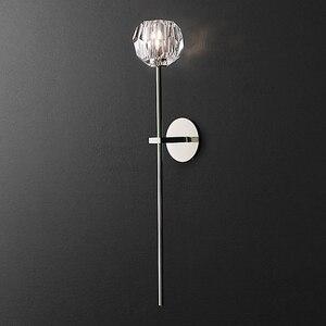 Willlustr K9 BOULE DE CRISTAL длинное бра, современное настенное бра, американское освещение, ресторан, отель, металлический чердак, хрустальная лампа K9