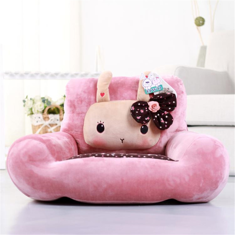 Fancytrader Cute Cartoon Bunny Rabbit Plush Chair Cushion Soft Stuffed Animals Bunny Mini Sofa Carpet Doll 70cm x 50cm fancytrader 150cm lovely plush soft cartoon rabbit toy stuffed giant 59 animal bunny nice lover gift