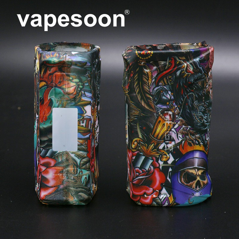 VapeSoon New Design Protective Silicone Case ForGeekVape AEGIS 100W TC BOX MOD Hell Series Style Silicone Case mike cow style protective silicone back case for iphone 5 purple