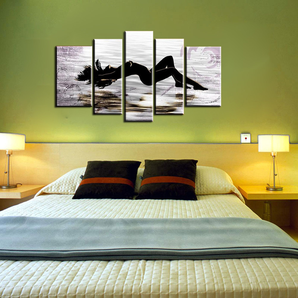 5-piece-large-abstract-canvas-wall-art-black-and-white-art-sex-Nude-picture-oil-painting (1)