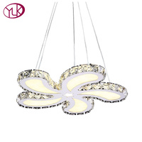 High Quality Modern Crystal Chandelier For Living Room Beautiful LED Crystal Home Lamp Flower Design Lustres