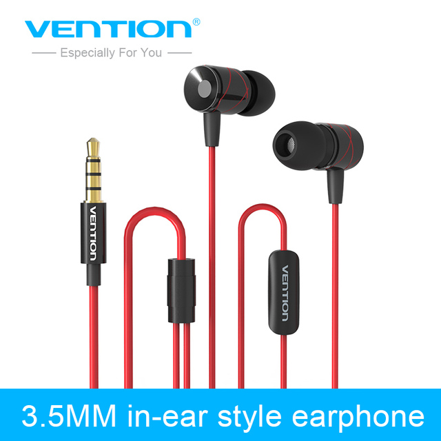 Vention metallic Earphones with Microphoe 3.5mm in-ear Style Earphone with MIC for Samsung XiaoMi iPhone 5/6 MP3/4