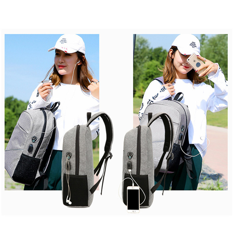 2pcs/set New Fashion Multifunction Notebook Bags Travel Backpack Birthday Christmas Gifts
