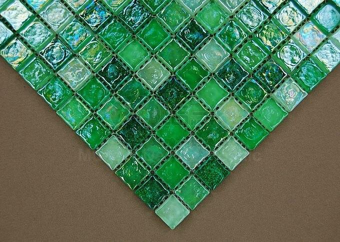 nuevo fresca verde cristal porche escaleras frontera azulejo mosaico de vidrio para pared de la