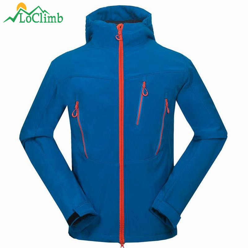 LoClimb ブランドフリースソフトシェルジャケット男性屋外のトレッキングキャンプクライミングスポーツ Winbreaker 防水スキーハイキングジャケット、 AM104