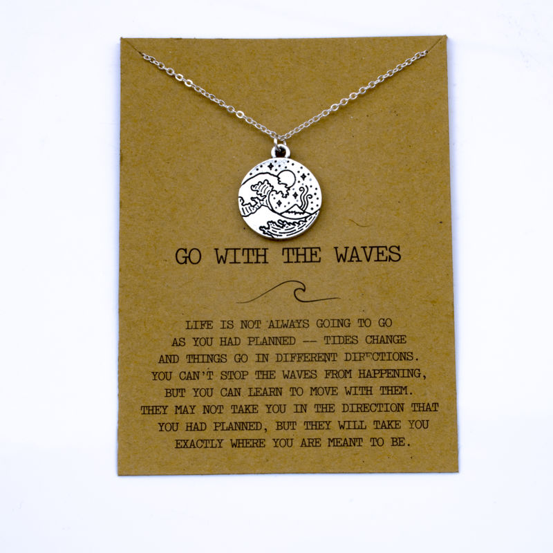 """SanLan 1 шт идут в комплекте ожерелье с подвеской """"волны"""" Океан ювелирные изделия - Окраска металла: 12"""