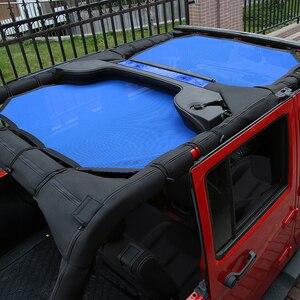 Image 2 - MOPAI 4 باب سيارة سقف شبكة بيكيني أعلى ظلة غطاء UV الشمس شبكة تظليل ل جيب رانجلر JK 2007 2017 اكسسوارات السيارات التصميم