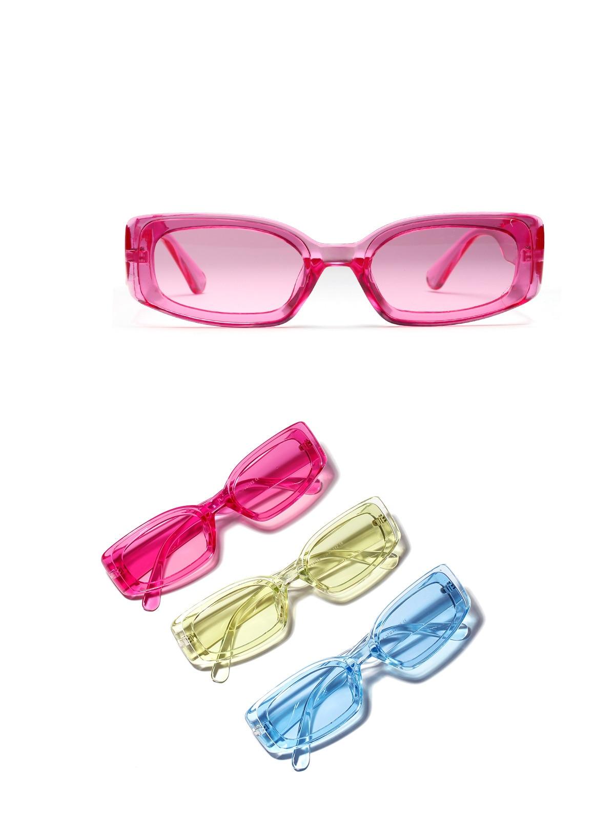 YOOSKE Rocznika Mały Kwadrat Okulary Przeciwsłoneczne Damskie Marka Projektant Retro Okulary Prostokąt Okulary Kobieta Cukierki Kolor Eyewears