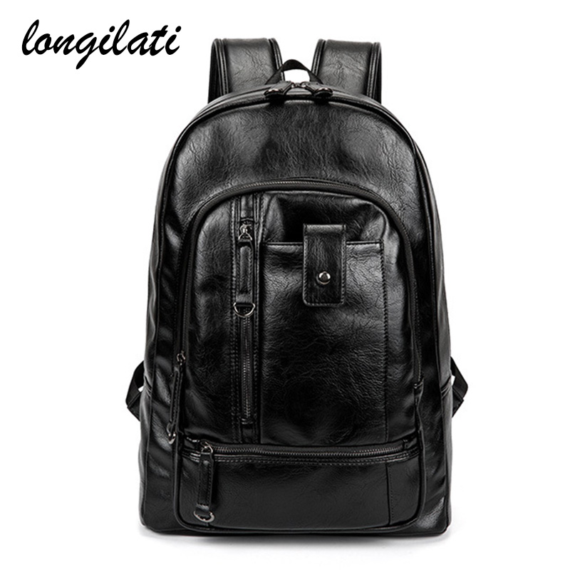 Men Backpacks Pu Leather Large Capacity School Bags for Teenagers Male Fashion Laptop Backpacks Man Travel Rucksack Bagpack велосипед schwinn streamliner 2 2016