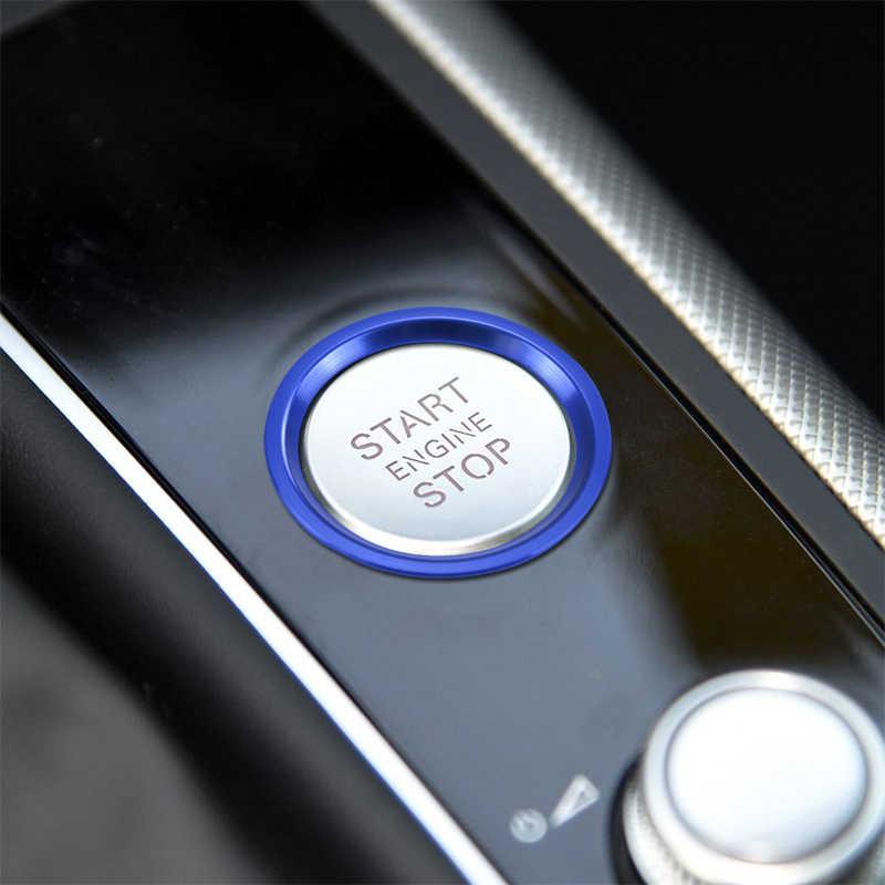 تصفيف السيارة مولد كهرباء بالبنزين مزود بمفتاح تشغيل زر غطاء إطاري الزخرفية تقليم المعادن ملصق لأودي A4 B9 A6 C7 Q7 A7 A8 الداخلية اكسسوارات السيارات