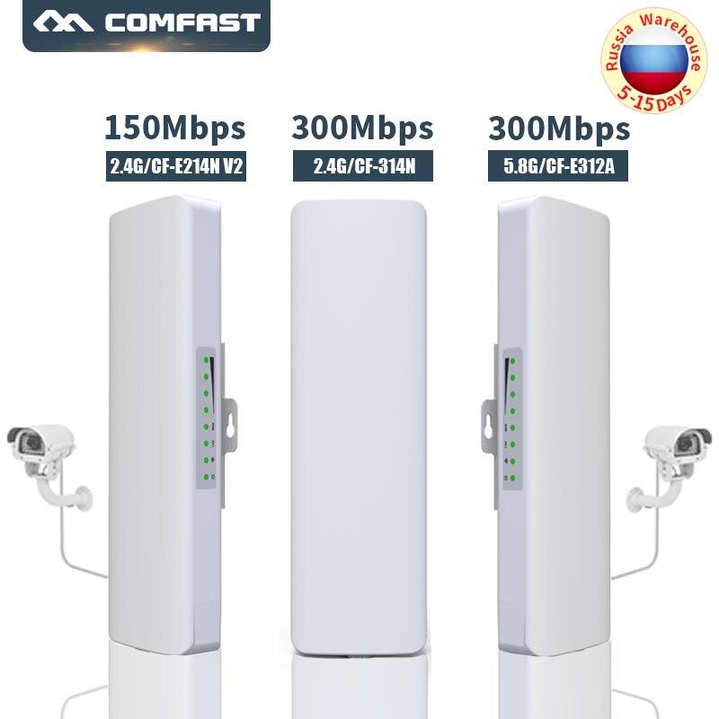Pont sans fil extérieur CPE 2.4G & 5G 150/300 Mbps antenne longue portée 14Dbi point d'accès Wifi Booster sans fil AP d'extension wi-fi