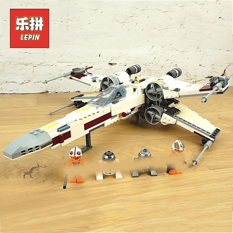 Plan Lepin 05145 Star Wars Fighter X Wing Starfighter Modèle Blocs de Construction Briques legoinglys Starwars 75218 Enfants De Noël Jouets