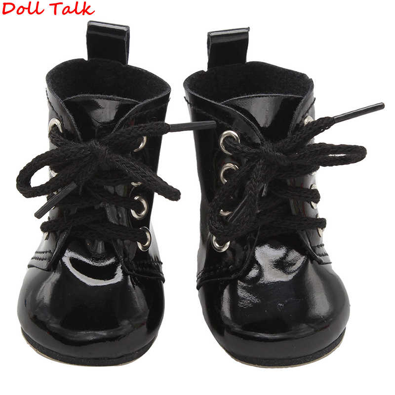 Doll Talk  Colors 1 Pair PU Leather Doll Boots For Dolls Short High Heel Booties Shoes For Multi-color Booties America Doll