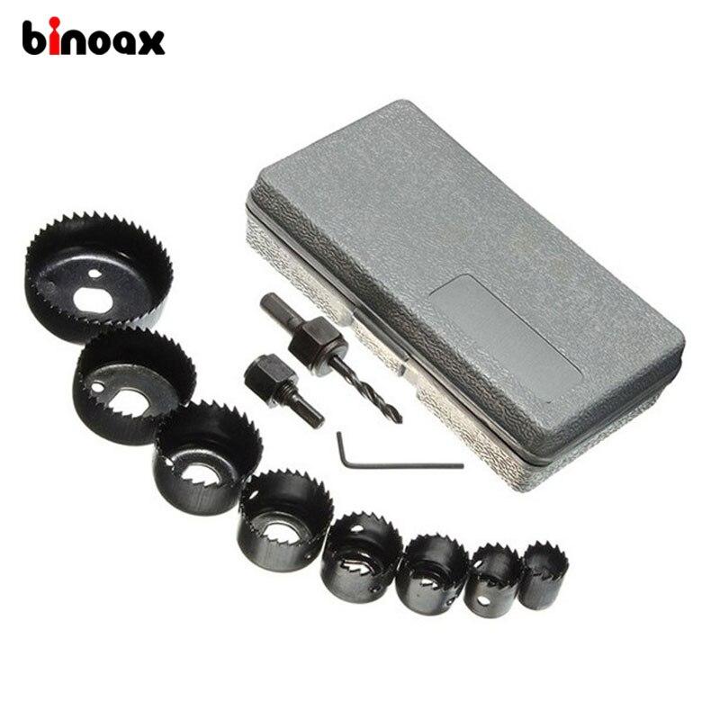 Binoax 11 stücke DIY Loch Sah Bit Schneiden Set Kit 19-64mm Holz Blatt Metall Legierungen Holz Metall blatt Legierungen # W00321 #