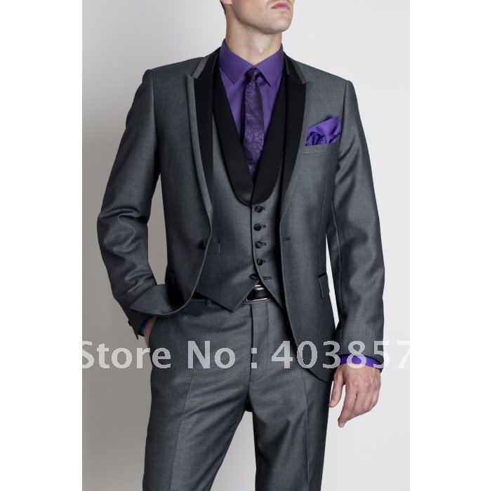lowest price comfortable feel select for clearance US $138.0 |Designer Wedding Suit Fashion Dinner Jacket Tuxedo Custom Made  Suit Grey Suit Free Shipping (Jacket+Pants+Vest) 277-in Suits from Men's ...