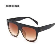 Flat Top Mirror Vintage Sunglasses Women Brand