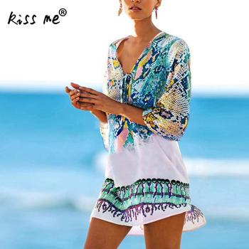 holala 2020 sexy beach cover up print bikini cover ups beach women beachwear female swimsuit cover up dress swimwear beach tunic Beach Caftan Swimsuit cover up Chiffon floral bathing suit Dress women Sexy Tunic Beachwear mesh Summer Bikini  Cover Ups
