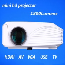 Newest LCD led hd 1080P resolution 800*600 interactive projector for home projector black or white choose
