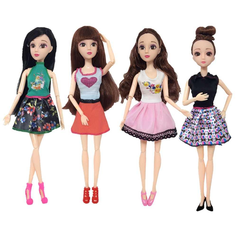 Ручная работа, Новая Одежда для куклы-младенца, модное платье девочка-принцесса, Вечернее Бальное Платье для 29 см, 11 дюймов, куклы-Барби, костюмы
