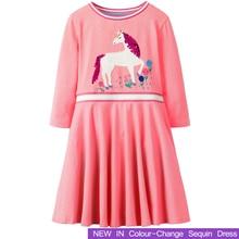 Girls Dress 2018 Brand New sequin dresses Long Sleeve Princess Dress Children Costume Kids Clothes Party Cotton Girl Clothing