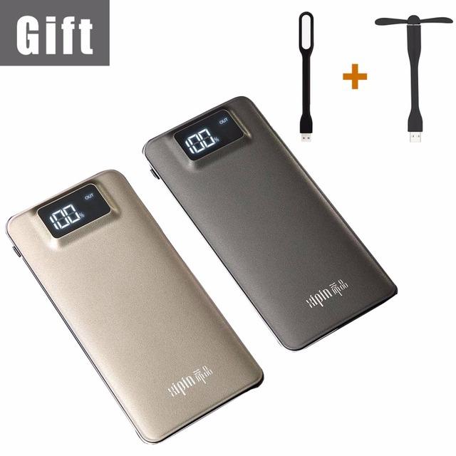 11000 mAh LCD Banco de Potencia Del Teléfono Móvil Portátil y Tablet Cargador de Batería Dual USB Powerbank Batería de Reserva Externa para Xiaomi
