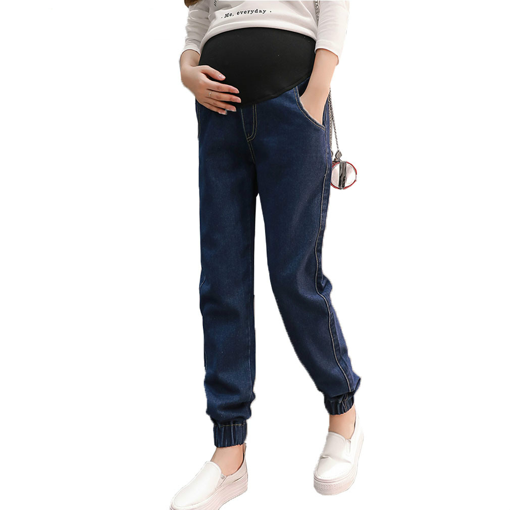 Maternity Jeans for Pregnant Women Loose Straight Harem Pregnant Pants for Pregnancy Spring Autumn Maternity Clothes Clothing ohryiyie women high waisted jeans boyfriend harem pants women loose ripped hole jeans for women fashion trousers femme plus size page 3