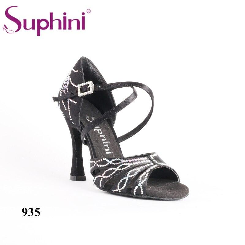 2018 Suphini Nouvelle Collection Chaussures Latine Salsa Chaussures De Danse Très belle Customzied style Cristal Chaussures De Danse Livraison Gratuite