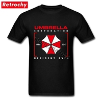 Fitness Designer Umbrella Corporation Shirts Men Unusual Graphic Cotton Japanese Game Resident Evil T Shirt Apparel