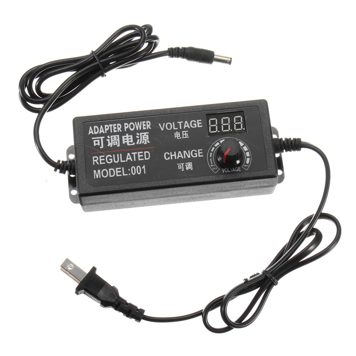 Adjustable 9-24V AC/DC Adapter Switching Power Supply Regulated Power Adapter Supply Display ews dc 24v 15a switching power supply transformer regulated