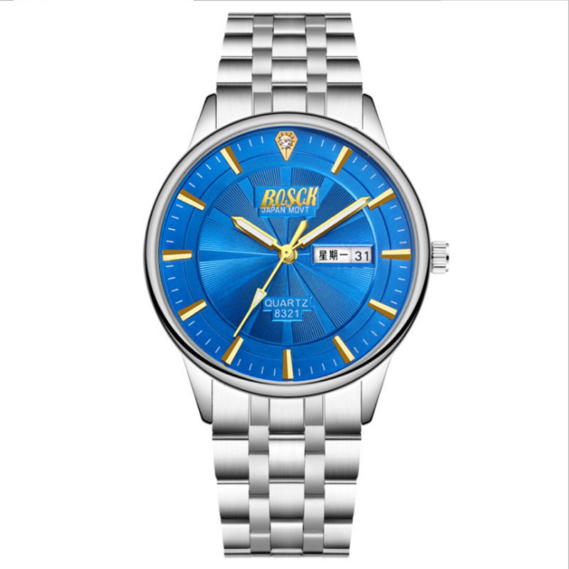 Brand Luxury Sport Quartz Watch Men Business Stainless Steel Silicone Waterproof Wristwatch mens watches top brand luxury sport quartz watch men business stainless steel silicone waterproof wristwatch