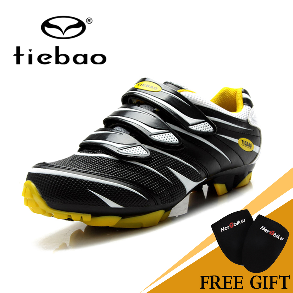 TIEBAO Road Racing TPU Soles Mountain Bike Shoes Men Bicycle Cycling Sport Breathable Triathlon Athletic MTB