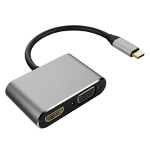 Get more info on the USB Type C to HDMI VGA Adapter Male to Female Type-C Converter Audio Video Cable for Macbook chromebook Samsung S8 USB-C phone