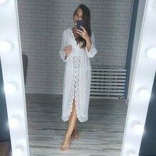 Free shipping L175 new arrival summer sexy lace womans robe, white chiffon sleepwear, princess nightgown