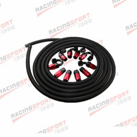 AN4 4AN Nylon Braided Oil/Fuel Hose + Fitting Hose End Adaptor Kit