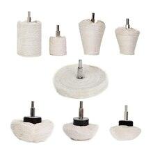 Drilling And Polishing Wheel 8 Pieces Of White Polishing Mop Wheel Cone / T-Shaped Wheel Grinding Head Band 1/4 Handle Suitabl футболка wheel of steelo