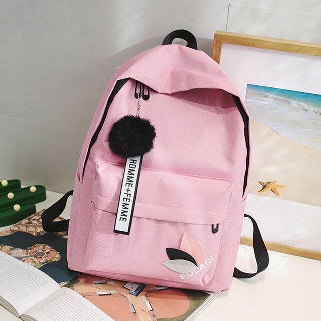 Cartable sac à dos toile Style Preppy sacs