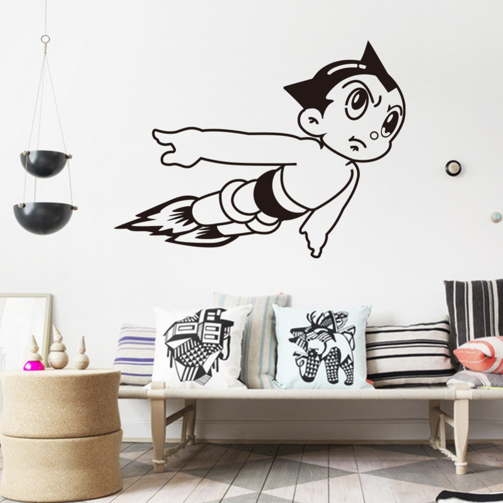 Creative flying witches in sky home wall decal second star to the boy wall sticker flying cartoon robot wall stickers for kids removable waterproofing home decal zy8229 amipublicfo Gallery