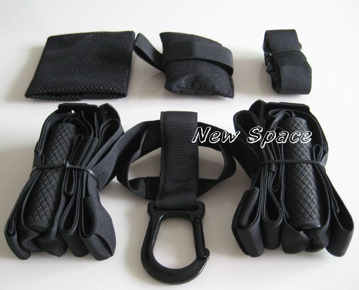 suspension trainer belt force kit tactical T3 fitness hanging rope training system 20PCS free shipping