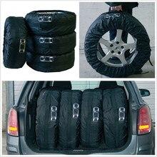 """4 шт. черный нейлон автомобиль пикап SUV сезонные шины запасные колеса шины для хранения Защитная крышка сумка 1""""-16"""""""