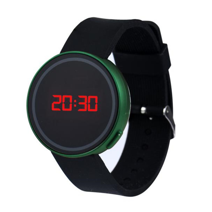 2018 Unisex LED Touch Screen Date Silicone Wristwatch Women Men Clock Horloges Mannen Reloj Mujer Watches Men Watch Sport Watch