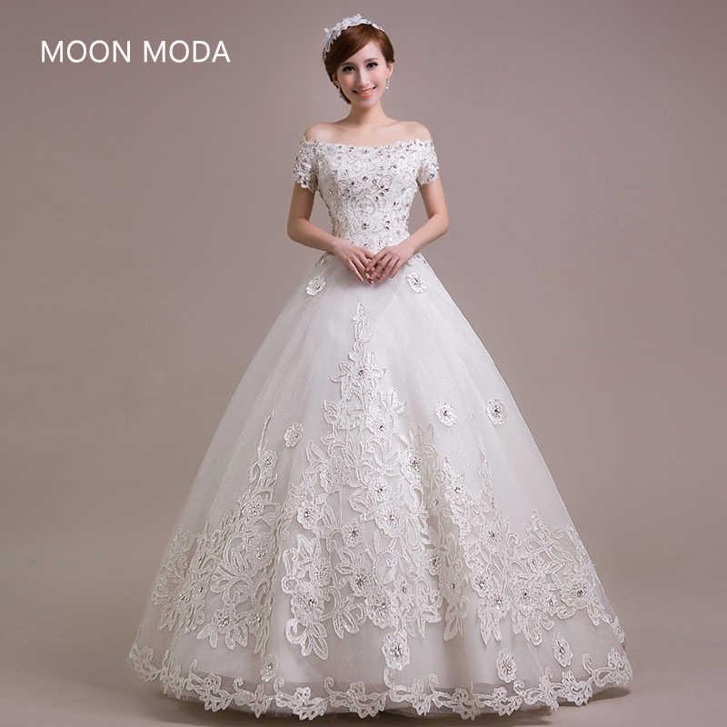 נסיכת בציר שמלת כלה 2019 כלה פשוט sheap הכלה שמלה weddingdress weding weeding vestido דה noiva תחרה