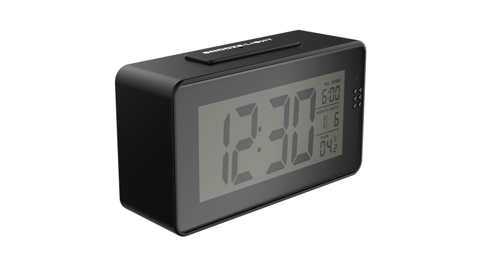 1080P mini Wifi camera with time display electronic clock P2P motion detection two-way intercom remote video surveillance camera