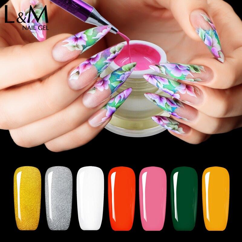 Lvmay Painting Gel Nails Full color Long lasting UV Sork off Nail ...
