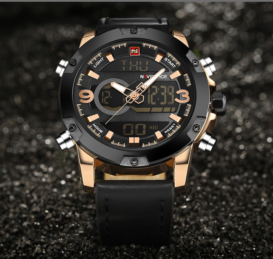 Top Luxury Brand NAVIFORCE Men Sport Watches Men's Quartz LED Analog Clock Man Military Waterproof Wrist Watch relogio masculino 10