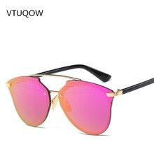 Luxury Flat Top Rose Gold Women Mirror Sunglasses Fashion Brand Designer Cool Ladies Sun Glasses For Women Female 2017 New UV400