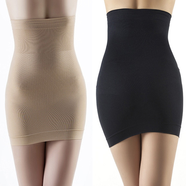 Women Slimming Body Shapers Seamless Corset Hip Waist Trainer Cincher Shapewear Skirt M L