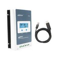 10A 12/24V Tracer1210AN MPPT Solar Charger Controller li ion li LiFePO4 battery 1210A PC Communication Cable CC USB RS485 150U